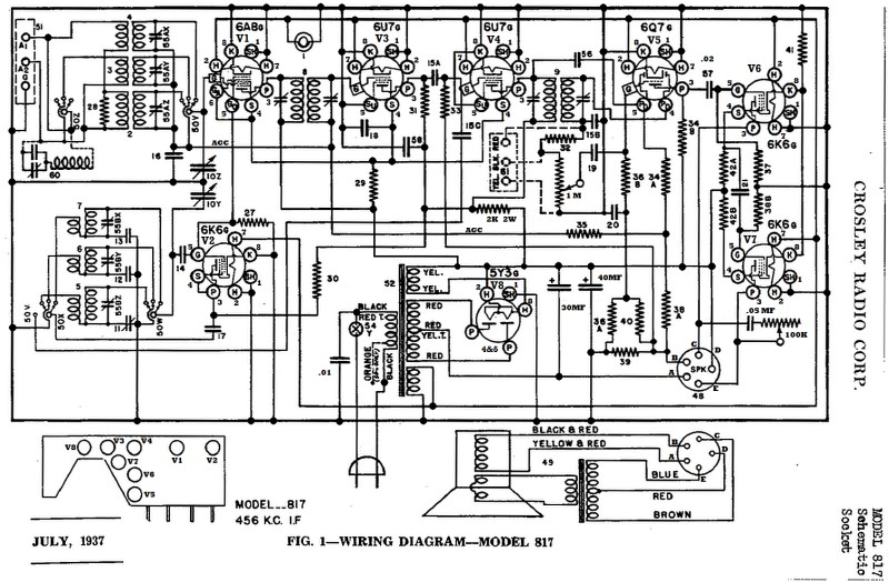 crosley crosley 817 schematic