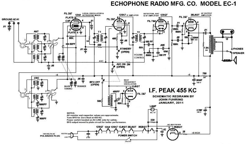 Thisis The Schematic Diagram Ofthe Ec 1 Showing How My Ec 1 Is Wired